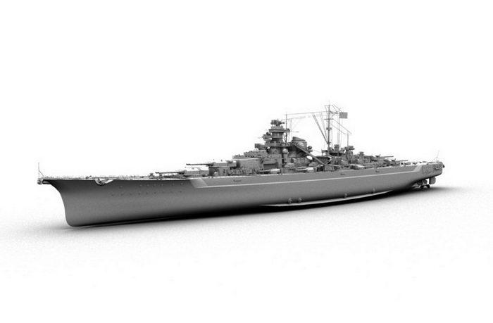 Bismarck-class Battleship 3d rendering