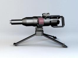 Electromagnetic Machine Gun 3d preview