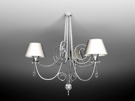 Retro Contemporary Candle Style Chandelier 3d preview