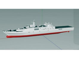 Type 071 Amphibious Transport Dock 3d preview