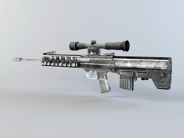 QBU-88 Sniper Rifle 3d rendering