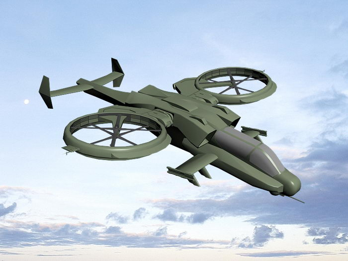 Avatar Scorpion Warship 3d rendering