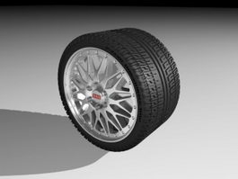 BBS Wheel 3d preview