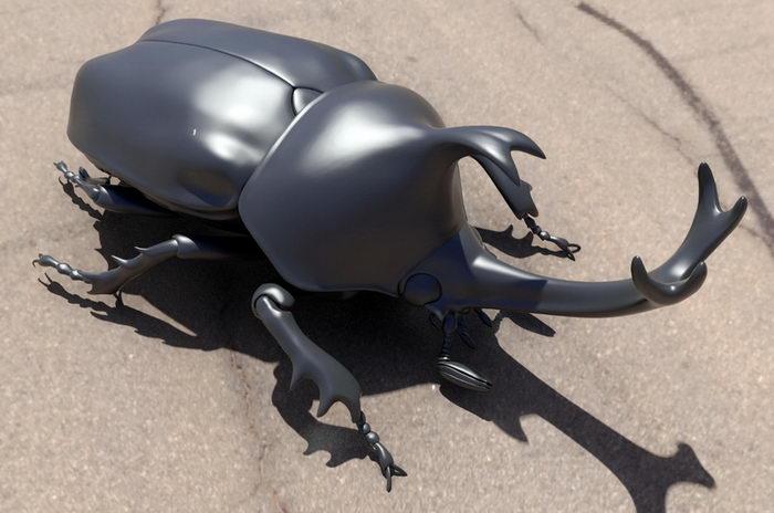 Japanese Rhinoceros Beetle 3d rendering