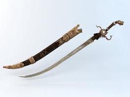 Ancient Persian Sword 3d model preview