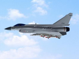 Chinese J-10 Fighter Aircraft 3d preview