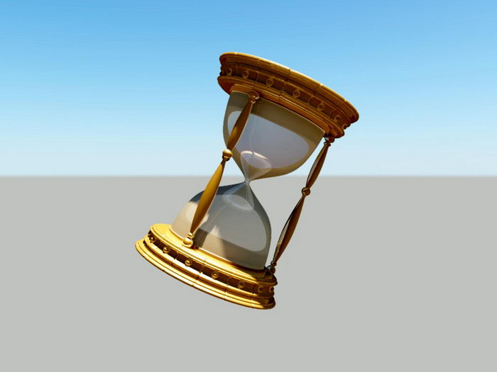 Antique Hourglass 3d rendering