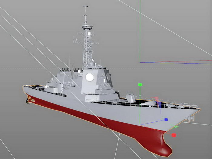 Kongō-class Destroyer 3d rendering