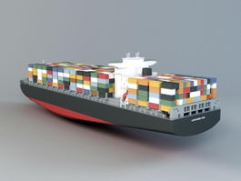 Container Ship 3d model preview