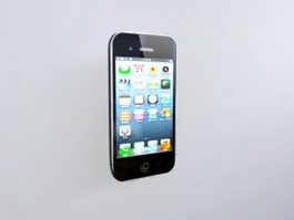 iPhone 5S Black 3d preview