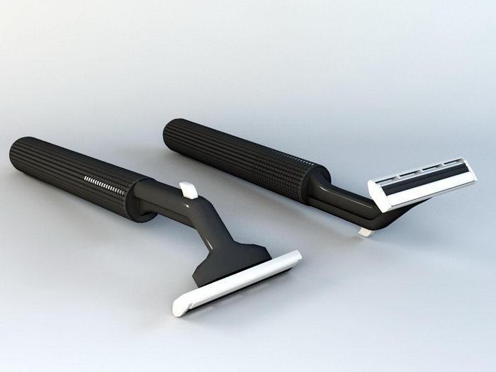 Gillette Safety Razor 3d rendering