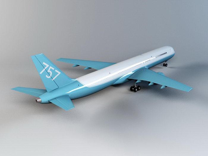 Boeing 757 Airliner 3d rendering