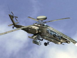 Apache Attack Helicopter 3d preview