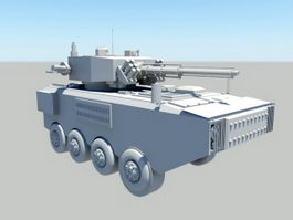 Wheeled Infantry Fighting Vehicle 3d model preview