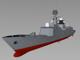 Chinese Type 054 Frigate 3d preview