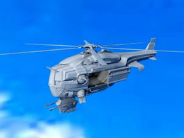 Sci-Fi Attack Helicopter 3d preview