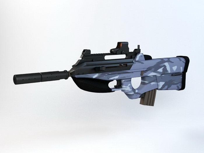 F2000 Tactical Assault Rifle 3d rendering