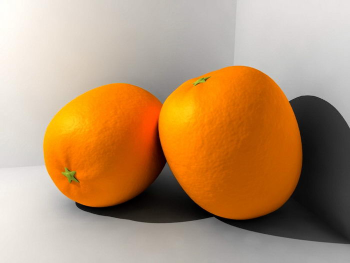 Orange Fruit 3d rendering