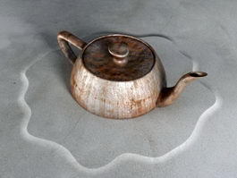 Rusty Tea Kettle 3d preview