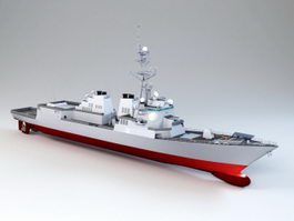 DDG-83 Arleigh Burke-class Destroyer 3d preview