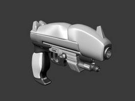 Sci-Fi Plasma Pistol 3d preview