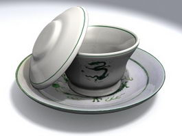Traditional Chinese Tea Cup 3d preview