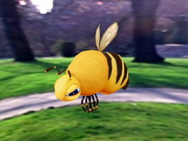 Cartoon Bee 3d preview