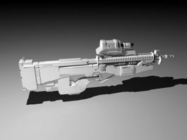 Sci-Fi Assault Rifle 3d preview