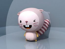 Cute Cartoon Beaver 3d preview