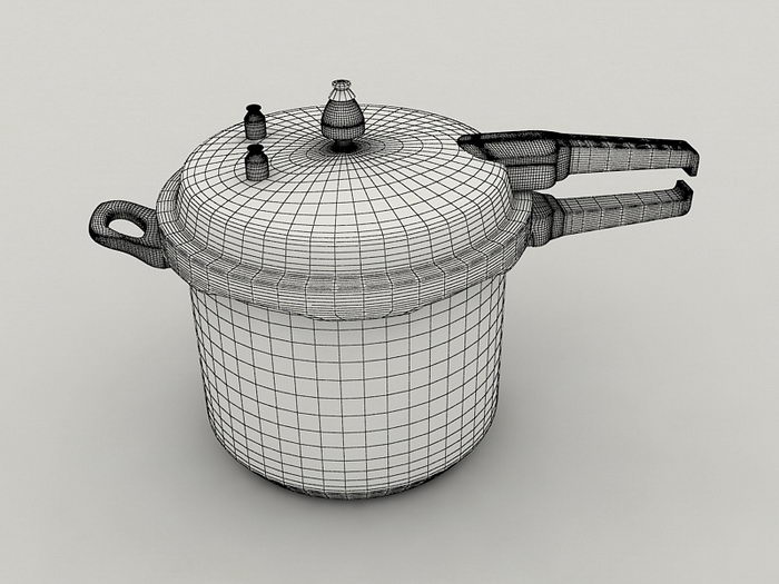 Stovetop Pressure Cooker 3d rendering