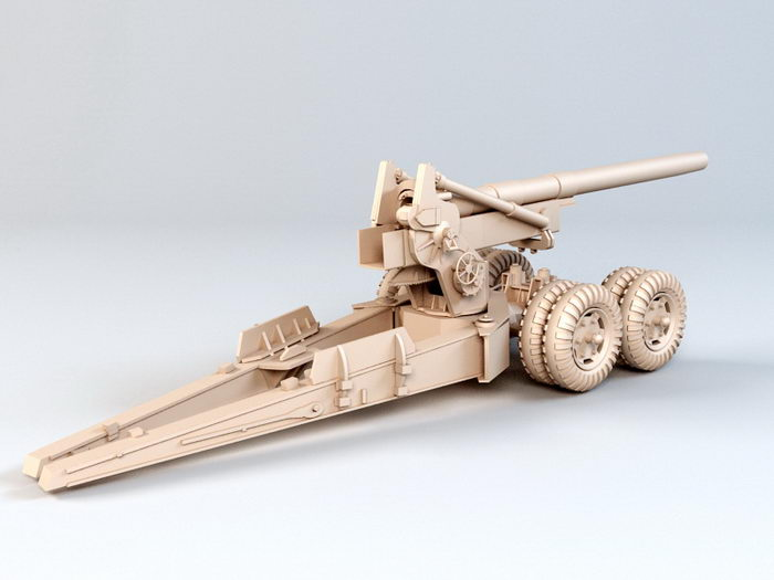 Field Artillery 3d rendering