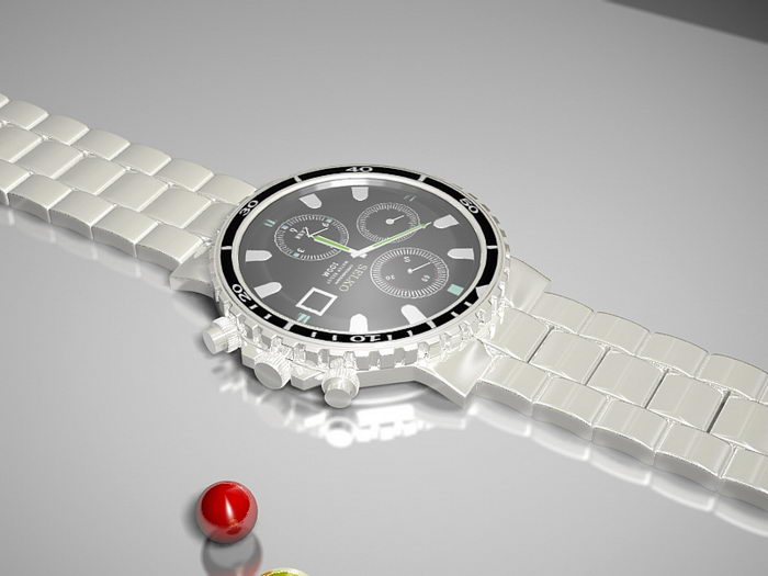 Seiko Watch 3d rendering