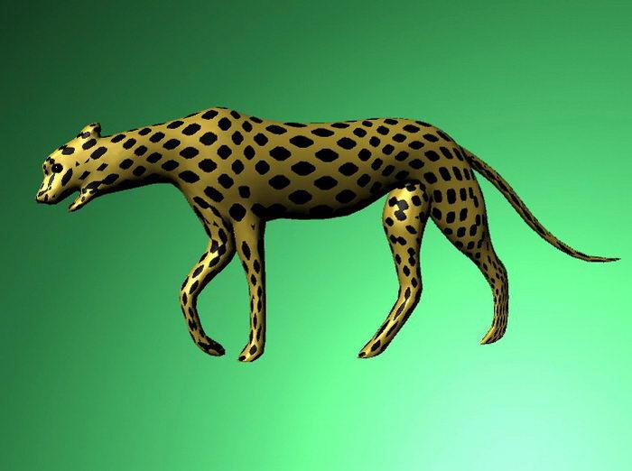 Female Cheetah 3d rendering