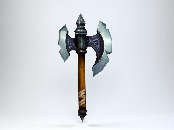 Fantasy Axe 3d rendering