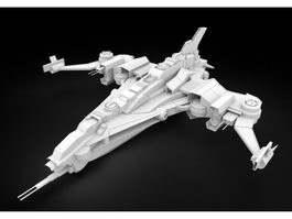 Sci-Fi Starfighter 3d preview