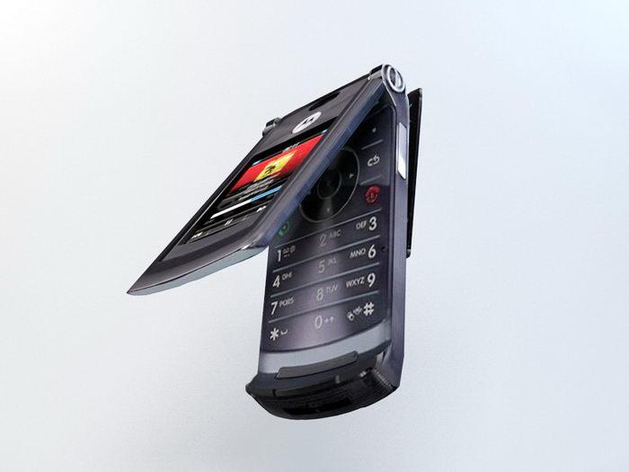 Motorola Razr2 V8 3d rendering