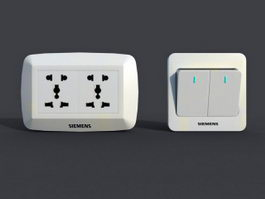 Light Switch & Socket 3d preview