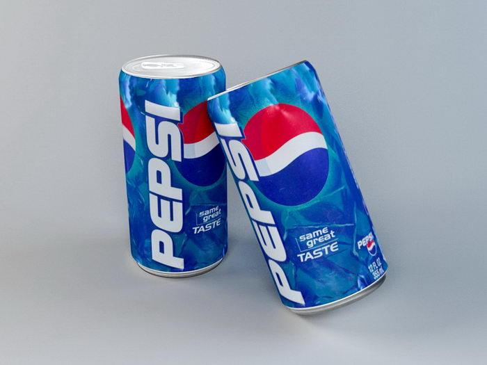 Pepsi Can 3d rendering
