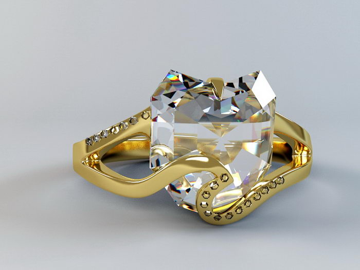 Diamond Ring 3d rendering