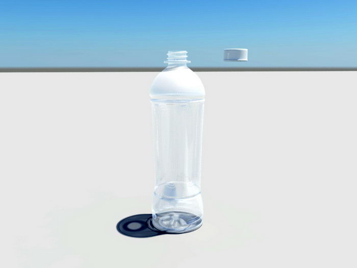 Juice Bottle 3d rendering