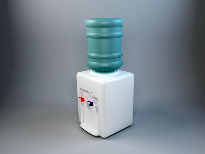 Small Water Dispenser 3d rendering