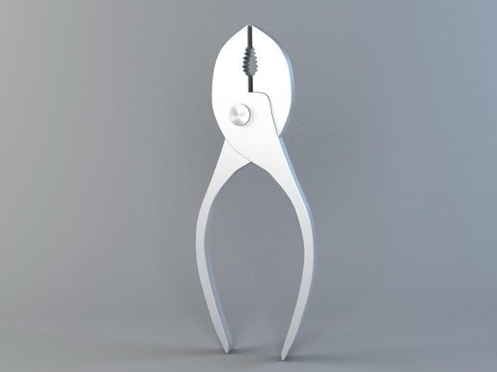 Slip Joint Pliers 3d rendering