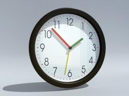 Modern Wall Clock 3d preview