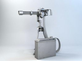 M134 Rotary Machine Gun 3d preview