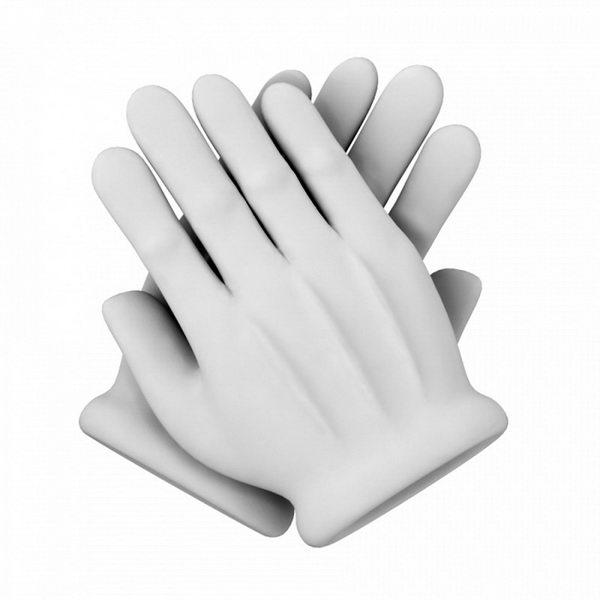White Glove 3d rendering