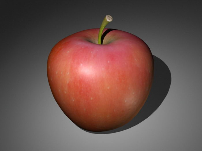 Red Apple 3d rendering