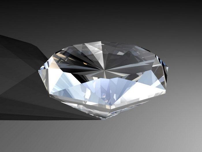 Animated Diamond 3d rendering
