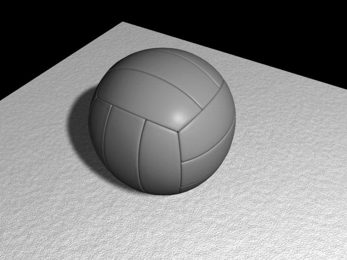 Volleyball Ball 3d rendering
