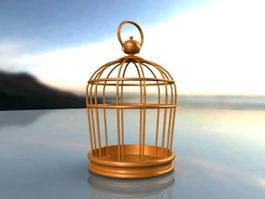 Brass Bird Cage 3d preview