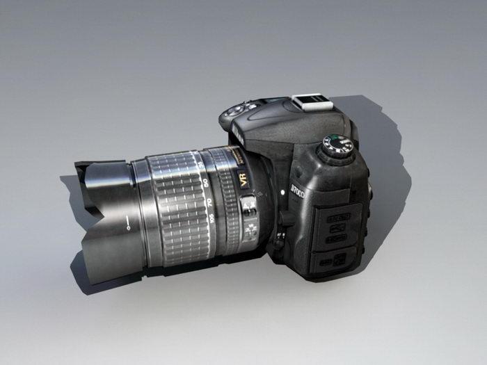 Nikon D7000 DSLR 3d rendering